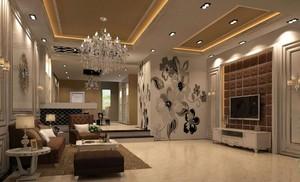 復式別墅客廳餐廳設計效果圖