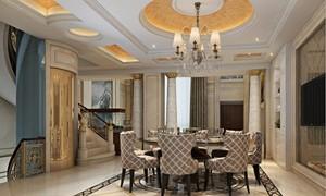 別墅復式餐廳客廳圖片