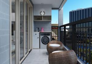 阳台衣柜装修效果图