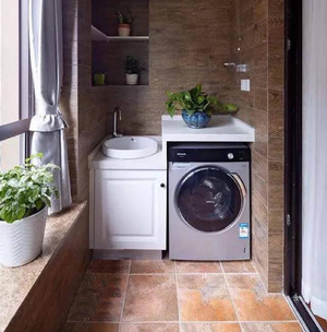 陽臺洗衣機效果圖