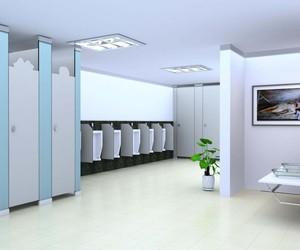 办公楼卫生间整体装修效果图