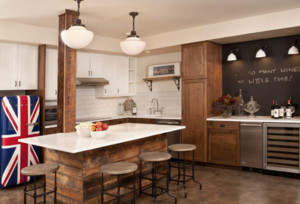 敞开式厨房吧台效果图