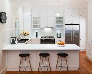 半开放式厨房吧台装修效果图