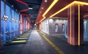 700平米时尚风格健身房吊顶装修效果图
