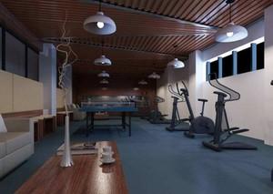 300平米精致风格健身房吊顶装修效果图