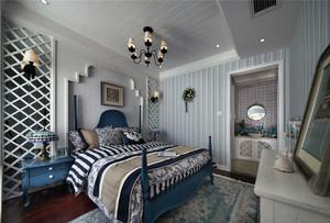 240平跃层地中海卧室地垫装修效果图