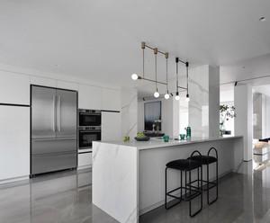 150平方大户型现代风格厨房岛台效果图