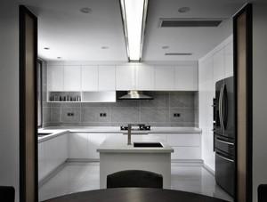 110平方三居室现代风格厨房岛台效果图