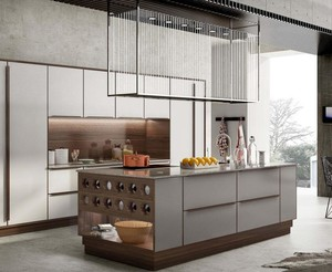 130平方大户型中式风格厨房岛台效果图
