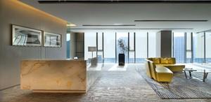 200平现代时尚风格办公楼大厅装修效果图
