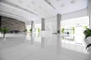 300平现代时尚风格办公楼大厅装修效果图