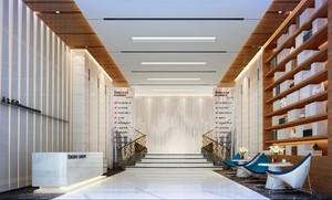 200平现代舒适风格办公楼大厅装修效果图
