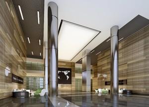 500平现代奢华风格办公楼大厅装修效果图