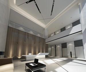 400平现代时尚风格办公楼大厅装修效果图