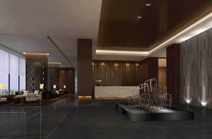 300平新古典风格办公楼大厅装修效果图