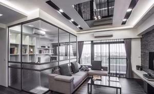 60平米房子宜家风格玻璃框架装修效果图