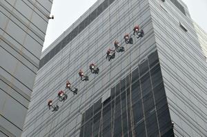 1400平写字楼玻璃幕墙片装修效果图