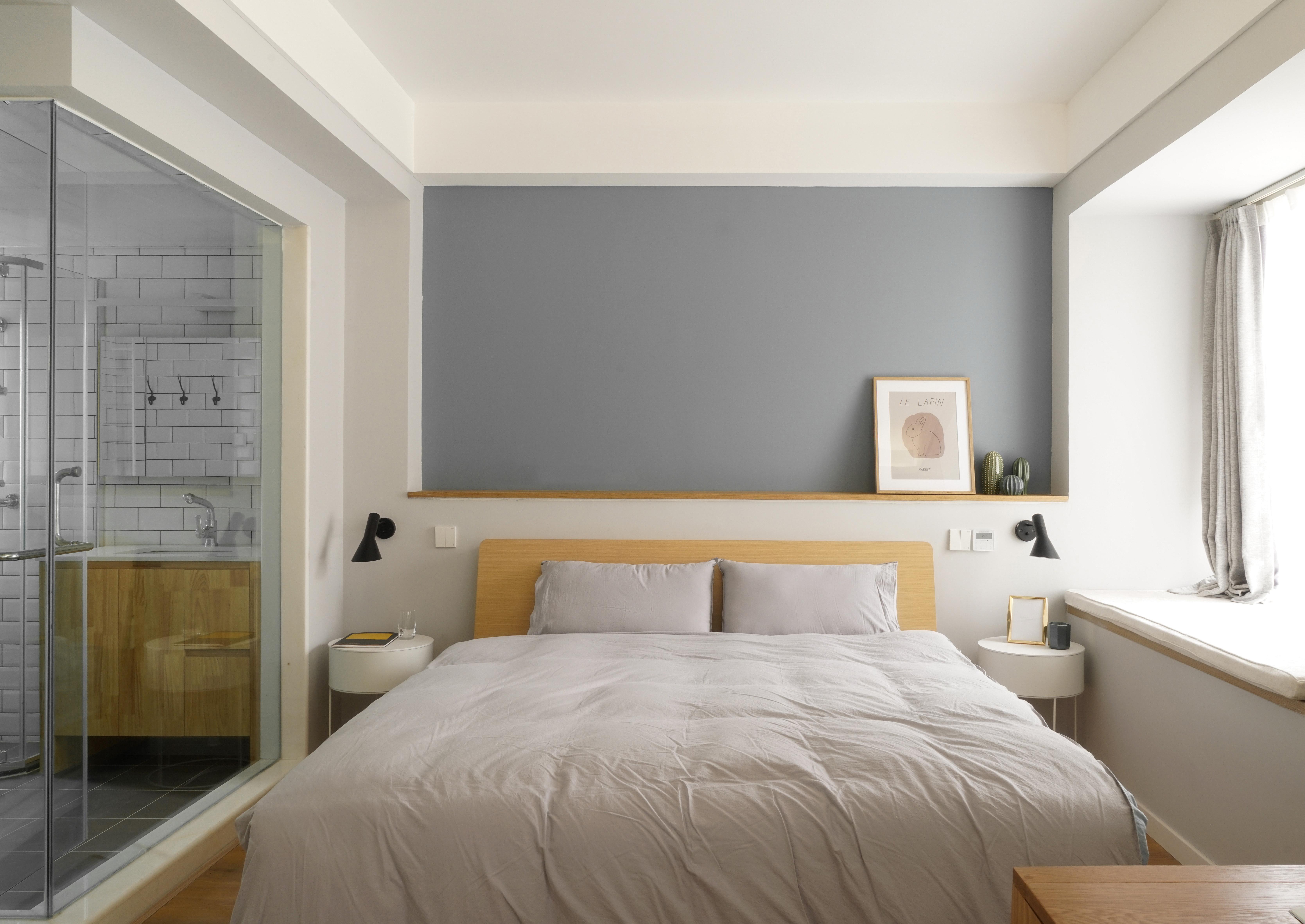 85平方房子厕所门对着床装修效果图