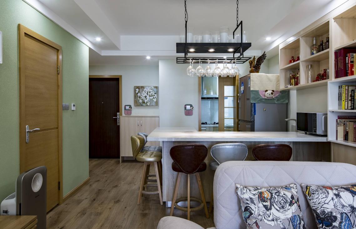 48平米房子田园公寓厨房装修效果图
