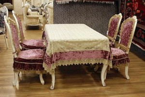 100平米现代风格服桌布椅套效果图