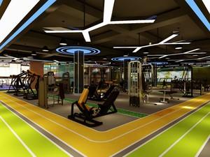 300平现代科技感装修室内健身房装修效果图