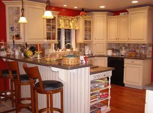 168平米三居室北欧风格厨房吧台台面装修效果图