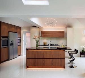 112平米三居室简约风格餐厅吧台台面装修效果图