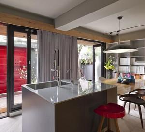 158平米三居室简约风格餐厅吧台台面装修效果图
