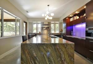 310平米别墅简约风格餐厅吧台台面装修效果图