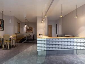 280平米大户型简约风格厨房吧台台面装修效果图