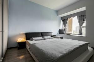12平方房间黑白灰简约风格装修效果图