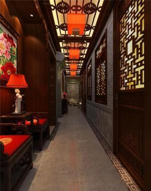 90平米中式酒馆装修效果图
