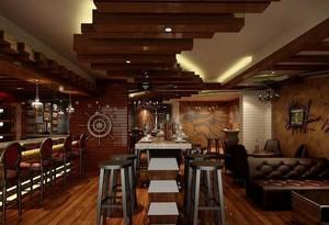 130平米中式酒馆装修效果图
