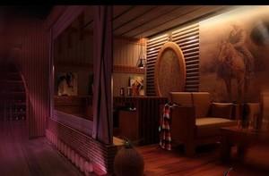 140平米中式酒馆装修效果图