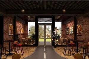 180平米中式酒馆装修效果图