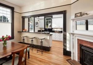 120平现代风格厨房吧台隔断效果图片大全