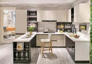 100平现代轻奢风格厨房吧台隔断设计图效果图大全