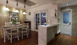 130平简约风格厨房吧台隔断装修效果图