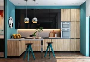 110平现代都市风格厨房吧台隔断图片不全墙纸