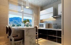 125平现代简约风格厨房吧台隔断设计图效果图大全