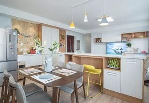 98平现代风格厨房吧台隔断装修案例实景照片