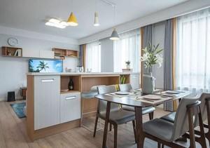 110平都市风格厨房吧台隔断设计案例图片大全欣赏