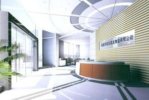 349平米简约风格公司门厅吊顶装修效果图