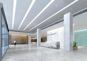 300平米现代风格公司门厅吊顶装修效果图