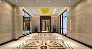 190平米新古典风格公司门厅吊顶装修效果图