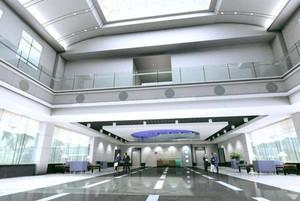 680平米简约风格挑空公司门厅吊顶装修效果图