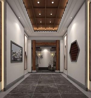 109平米中式风格公司门厅吊顶装修效果图