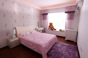 9平米淡紫色房间简欧风格装修效果图