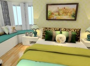 10平米不规则房间现代港式风格装修效果图