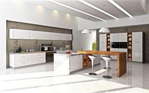 后现代风格开放式整体厨房装修效果图